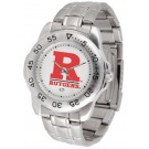 Rutgers Scarlet Knights Sport Steel Band Men's Watch