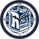 "Rice Owls 12"" Dimension Wall Clock"