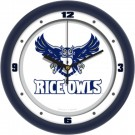 """Rice Owls Traditional 12"""" Wall Clock"""