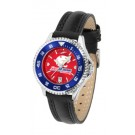 South Alabama Jaguars Competitor Ladies AnoChrome Watch with Leather Band and Colored Bezel