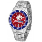 South Alabama Jaguars Competitor AnoChrome Men's Watch with Steel Band and Colored Bezel