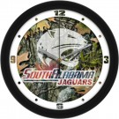 "South Alabama Jaguars 12"" Camo Wall Clock"