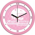 "South Alabama Jaguars 12"" Pink Wall Clock"