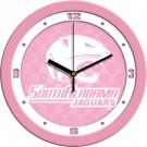 """South Alabama Jaguars 12"""" Pink Wall Clock"""