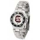 South Carolina Gamecocks Competitor Ladies Watch with Steel Band