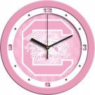 "South Carolina Gamecocks 12"" Pink Wall Clock"