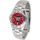 South Carolina Gamecocks Sport AnoChrome Ladies Watch with Steel Band