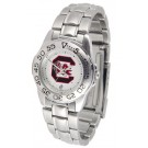 South Carolina Gamecocks Gameday Sport Ladies' Watch with a Metal Band