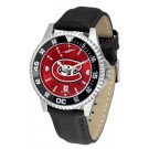 St. Cloud State Huskies Competitor AnoChrome Men's Watch with Nylon/Leather Band and Colored Bezel