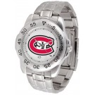 St. Cloud State Huskies Gameday Sport Men's Watch with a Metal Band
