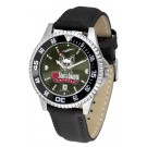 South Dakota Coyotes Competitor AnoChrome Men's Watch with Nylon/Leather Band and Colored Bezel