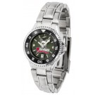 South Dakota Coyotes Competitor AnoChrome Ladies Watch with Steel Band and Colored Bezel