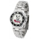 South Dakota Coyotes Competitor Ladies Watch with Steel Band