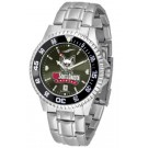 South Dakota Coyotes Competitor AnoChrome Men's Watch with Steel Band and Colored Bezel