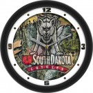 "South Dakota Coyotes 12"" Camo Wall Clock"