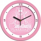 "South Dakota Coyotes 12"" Pink Wall Clock"