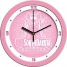 "South Dakota Coyotes 12"" Pink Wall Clock"