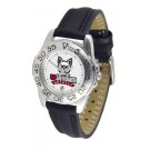South Dakota Coyotes Ladies Sport Watch with Leather Band