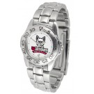 South Dakota Coyotes Ladies Sport Watch with Stainless Steel Band