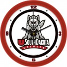 "South Dakota Coyotes Traditional 12"" Wall Clock"