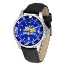 South Dakota State Jackrabbits Competitor AnoChrome Men's Watch with Nylon/Leather Band and Colored Bezel