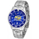 South Dakota State Jackrabbits Competitor AnoChrome Men's Watch with Steel Band and Colored Bezel