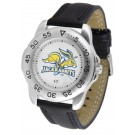 South Dakota State Jackrabbits Men's Sport Watch with Leather Band