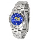 South Dakota State Jackrabbits Sport AnoChrome Ladies Watch with Steel Band