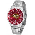 San Diego State Aztecs Competitor AnoChrome Men's Watch with Steel Band and Colored Bezel