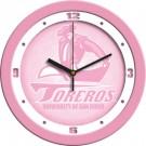 "San Diego Toreros 12"" Pink Wall Clock"