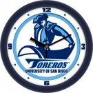 "San Diego Toreros Traditional 12"" Wall Clock"