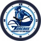 "San Diego Toreros Traditional 12"" Wall Clock"