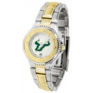 South Florida Bulls Competitor Ladies Watch with Two-Tone Band