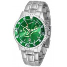 South Florida Bulls Competitor AnoChrome Men's Watch with Steel Band and Colored Bezel