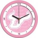 "South Florida Bulls 12"" Pink Wall Clock"