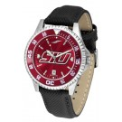 Southern Illinois Salukis Competitor AnoChrome Men's Watch with Nylon/Leather Band and Colored Bezel