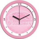 """Southern Illinois Salukis 12"""" Pink Wall Clock"""