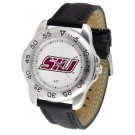 Southern Illinois Salukis Men's Sport Watch with Leather Band