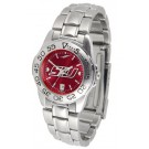 Southern Illinois Salukis Sport AnoChrome Ladies Watch with Steel Band