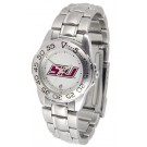 Southern Illinois Salukis Ladies Sport Watch with Stainless Steel Band