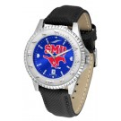 Southern Methodist (SMU) Mustangs Competitor AnoChrome Men's Watch with Nylon/Leather Band