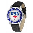 Southern Methodist (SMU) Mustangs Competitor Men's Watch with Nylon / Leather Band