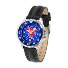 Southern Methodist (SMU) Mustangs Competitor Ladies AnoChrome Watch with Leather Band and Colored Bezel