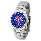 Southern Methodist (SMU) Mustangs Competitor AnoChrome Ladies Watch with Steel Band and Colored Bezel