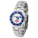 Southern Methodist (SMU) Mustangs Competitor Ladies Watch with Steel Band