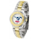 Southern Methodist (SMU) Mustangs Competitor Ladies Watch with Two-Tone Band