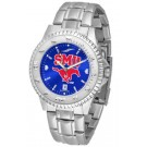 Southern Methodist (SMU) Mustangs Competitor AnoChrome Men's Watch with Steel Band