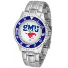 Southern Methodist (SMU) Mustangs Competitor Men's Watch with Steel Band