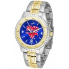 Southern Methodist (SMU) Mustangs Competitor AnoChrome Two Tone Watch