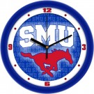 "Southern Methodist (SMU) Mustangs 12"" Dimension Wall Clock"
